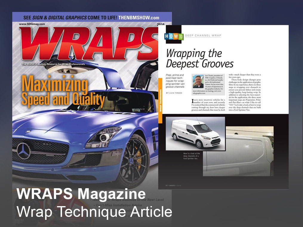WRAPS Magazine Wrap Technique Article
