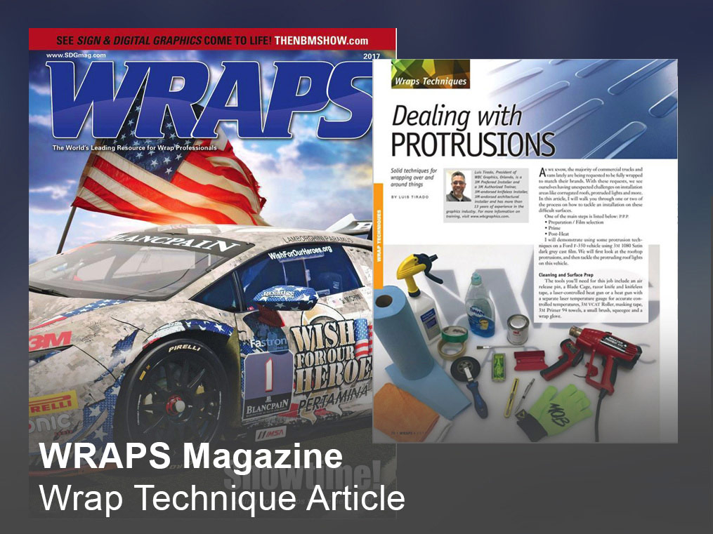 WRAPS Magazine Technique Article
